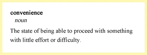 convenience definition